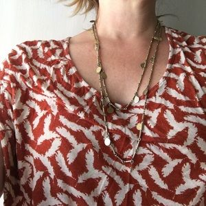 🔆 Vintage gold tone coin layering necklace